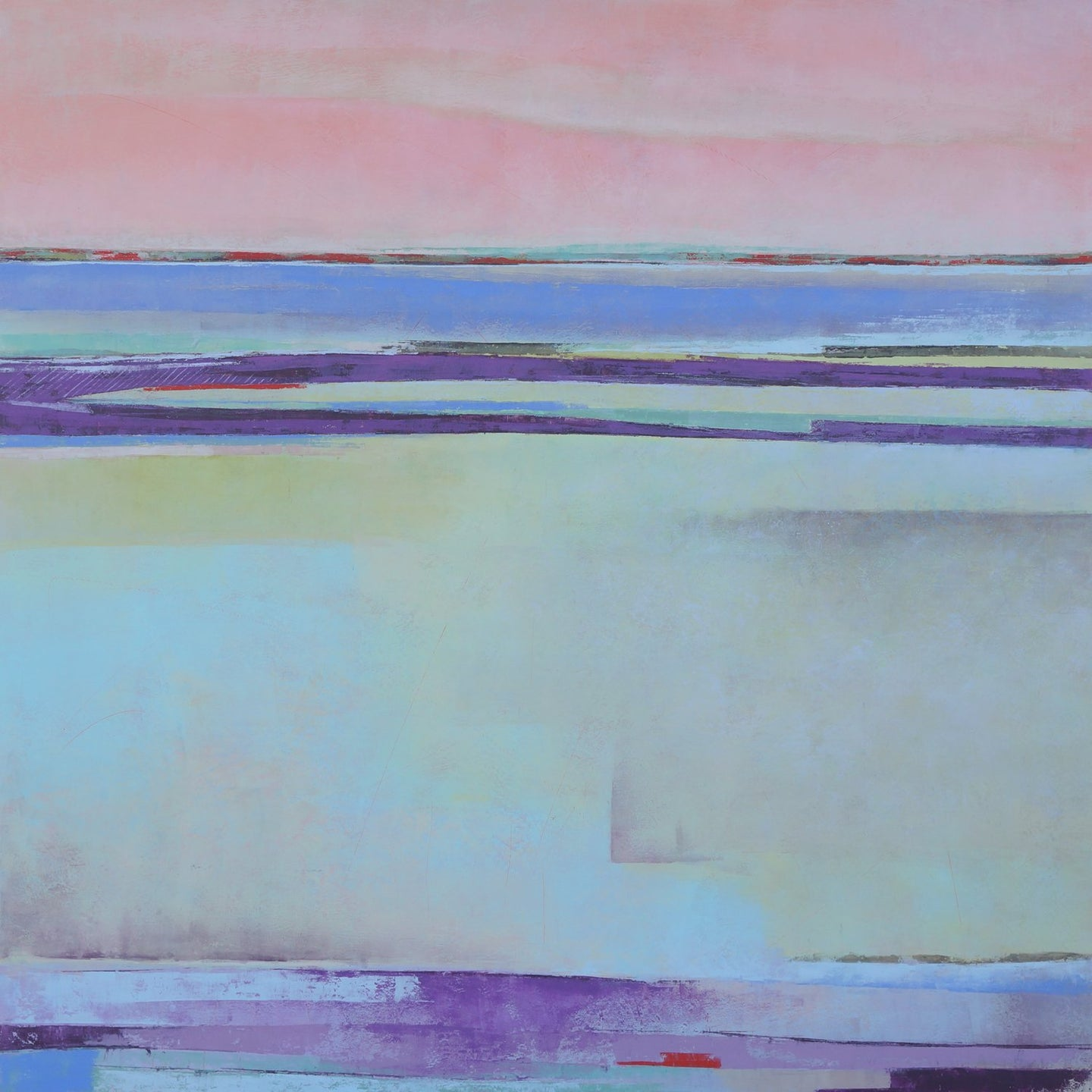 Purple abstract ocean painting