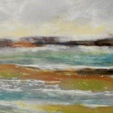 "Load image into Gallery viewer, Closeup detail of coastal abstract landscape art ""Lapping Layers,"" digital download by Victoria Primicias"