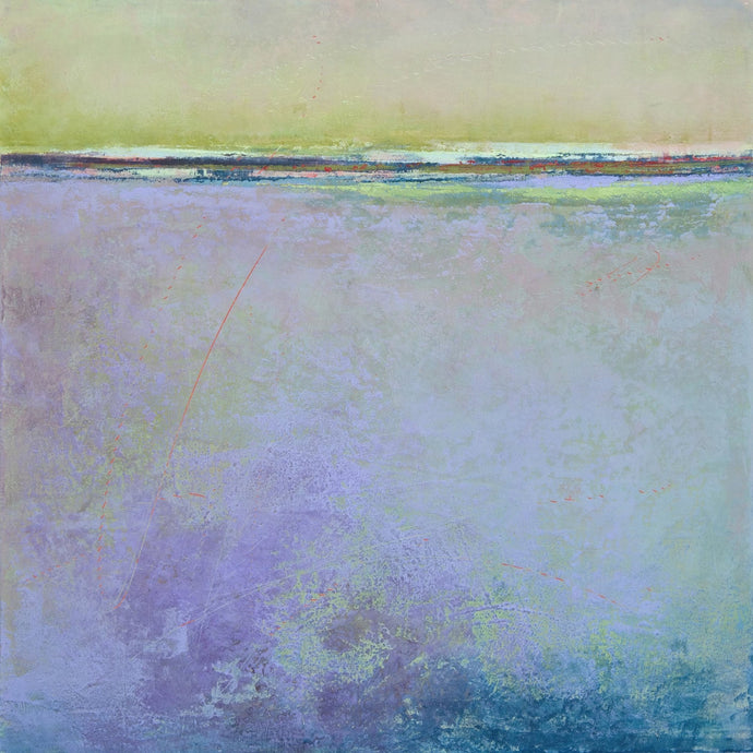 Purple coastal abstract ocean art