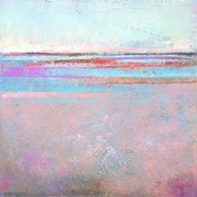 "Load image into Gallery viewer, Pink abstract beach painting ""Marathon Miles,"" canvas wall art by Victoria Primicias"