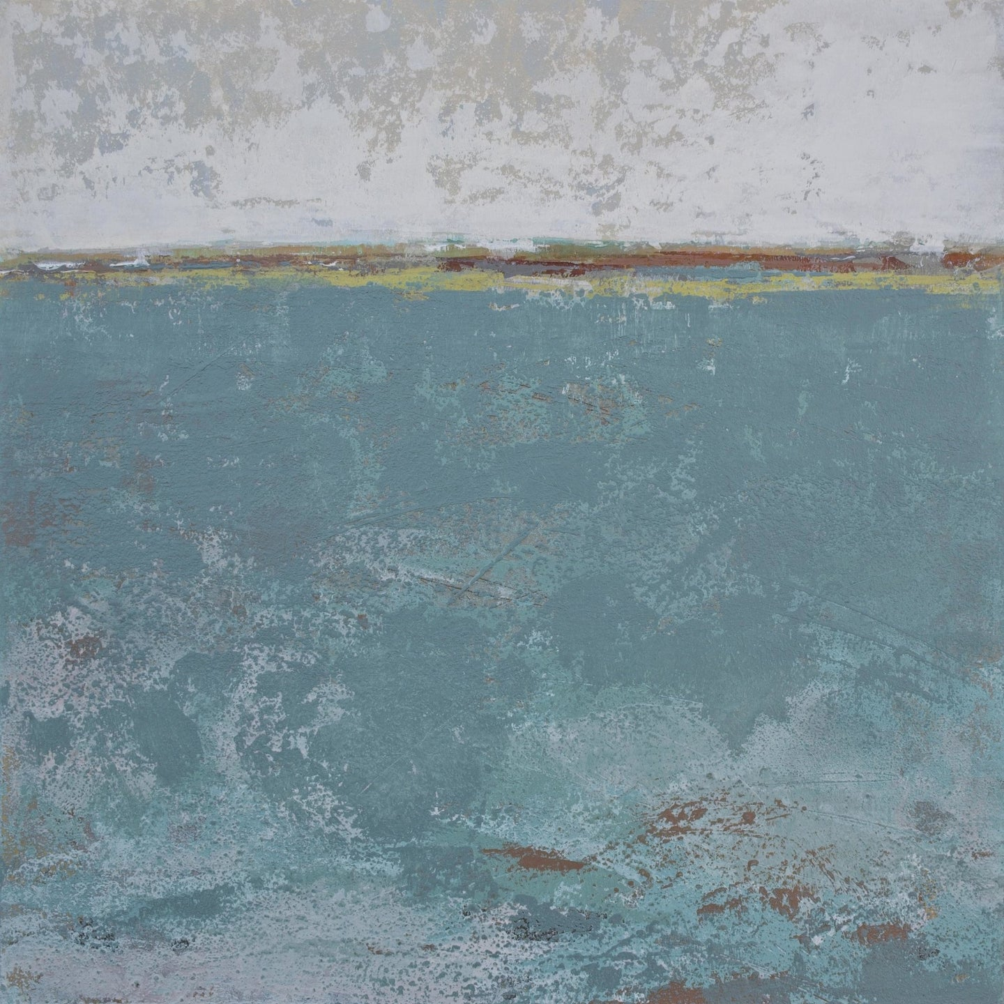 Bluegreen abstract beach paintings