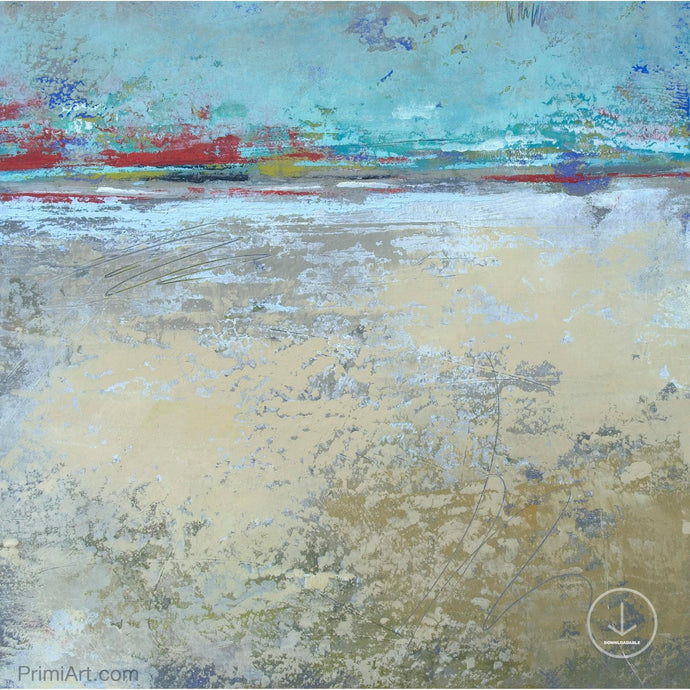 Tan abstract ocean painting