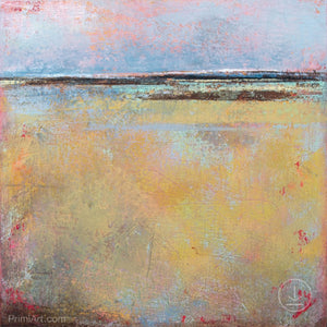 "Coastal abstract ocean wall art ""Morning Gallery,"" downloadable art by Victoria Primicias"