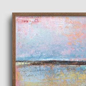 "Closeup detail of Coastal abstract ocean wall art ""Morning Gallery,"" downloadable art by Victoria Primicias"