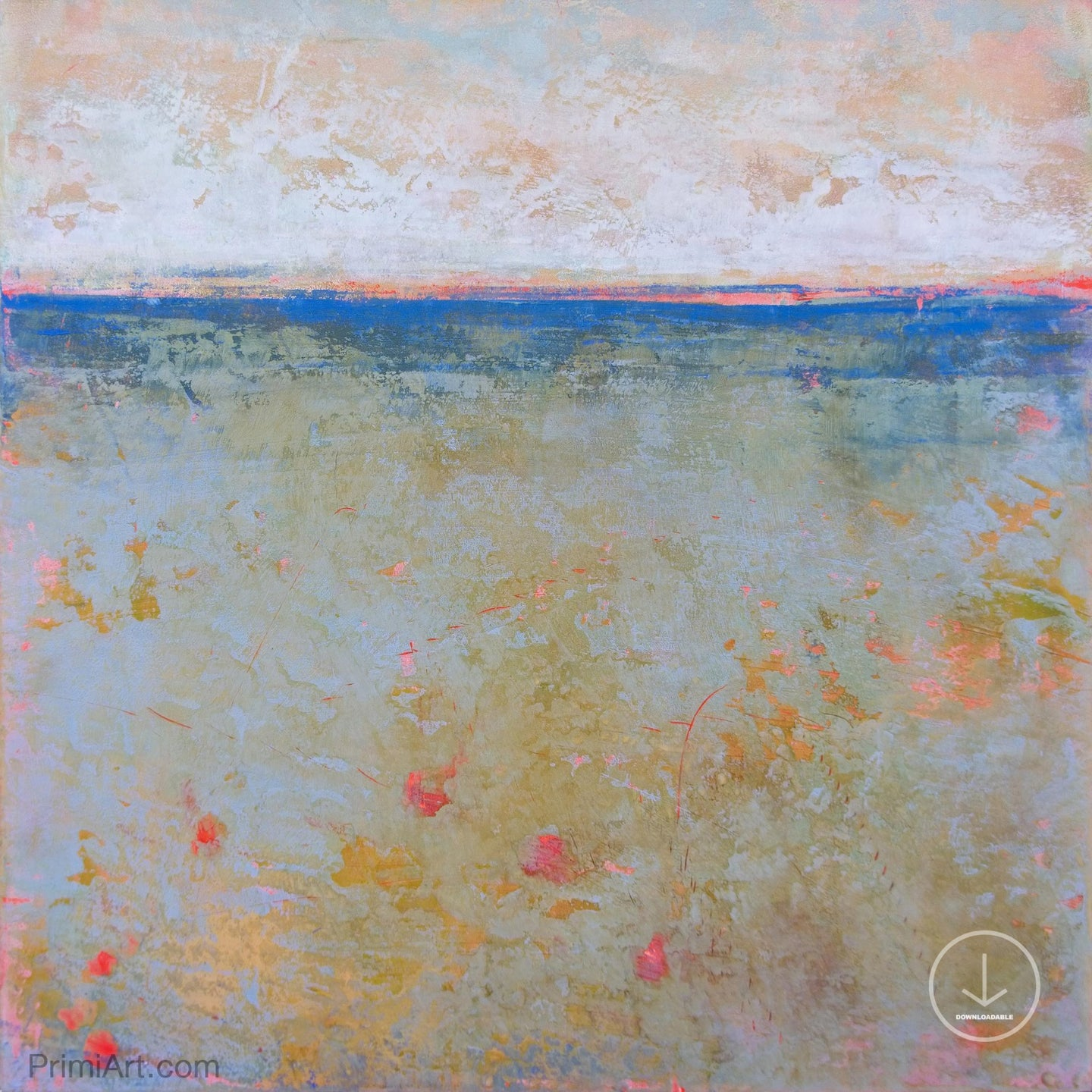 Impressionist abstract ocean wall art