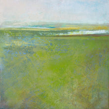 "Load image into Gallery viewer, Contemporary abstract landscape painting ""Peridot Pastures,"" giclee print by Victoria Primicias"