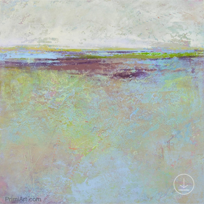 Serene abstract beach painting