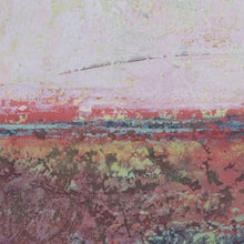 "Load image into Gallery viewer, Closeup detail of square abstract seascape painting ""Red Tide,"" metal print by Victoria Primicias"