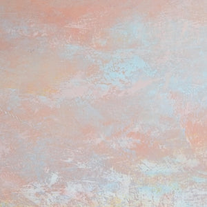 "Closeup detail of modern abstract landscape art ""Retiring Sky,"" fine art print by Victoria Primicias"