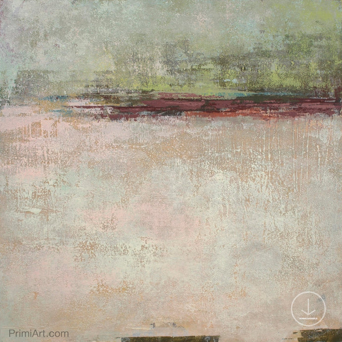 Neutral color abstract landscape painting