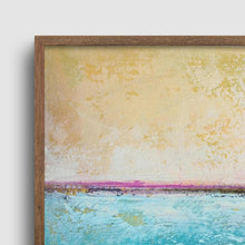 "Load image into Gallery viewer, Closeup detail of Teal coastal abstract beach artwork ""Shallow Harbor,"" digital download by Victoria Primicias"