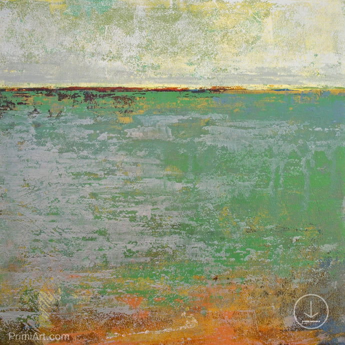 Horizon abstract landscape painting