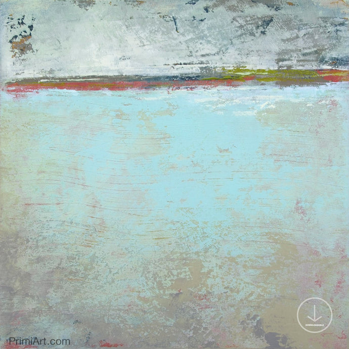 Contemporary abstract beach painting