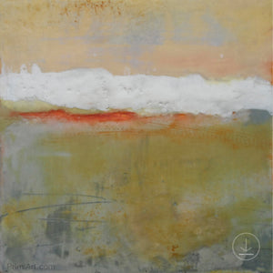 "Modern abstract ocean painting ""Singing Surf,"" digital print by Victoria Primicias"