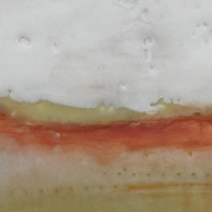 "Closeup detail of modern abstract landscape art ""Singing Surf,"" digital print by Victoria Primicias"
