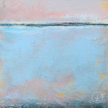"Load image into Gallery viewer, Pastel abstract coastal wall decor ""Sister Shore,"" digital art by Victoria Primicias"