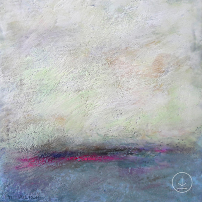 Muted abstract landscape art