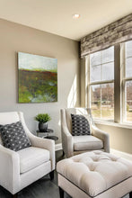 "Load image into Gallery viewer, Impressionist abstract landscape art ""Spring Eternal,"" printable wall art by Victoria Primicias, decorates the living room."