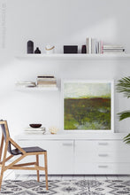 "Load image into Gallery viewer, Impressionist abstract landscape art ""Spring Eternal,"" printable wall art by Victoria Primicias, decorates the office."
