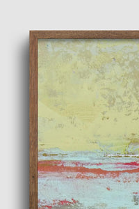 "Closeup detail of muted beige abstract ocean painting ""Sweet Compass,"" digital download by Victoria Primicias"