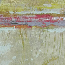 "Load image into Gallery viewer, Closeup detail of neutral color abstract landscape art ""Sweet Compass,"" canvas wall art by Victoria Primicias"
