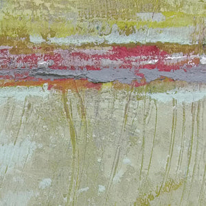 "Closeup detail of neutral color abstract landscape art ""Sweet Compass,"" canvas wall art by Victoria Primicias"