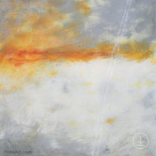 "Load image into Gallery viewer, Contemporary abstract ocean painting ""Tawny Spirit,"" printable art by Victoria Primicias"