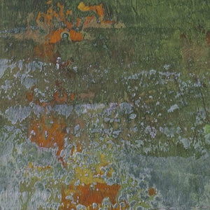 "Closeup detail of green abstract landscape art ""Verdant Excuse,"" downloadable art by Victoria Primicias"