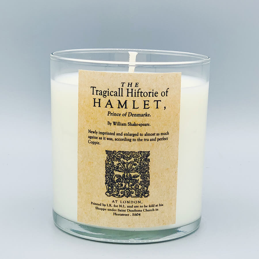 The Tragedy of Hamlet, Prince of Denmark - scented book candle - Noble Objects