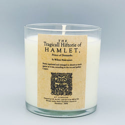 The Tragedy of Hamlet, Prince of Denmark - scented book candle