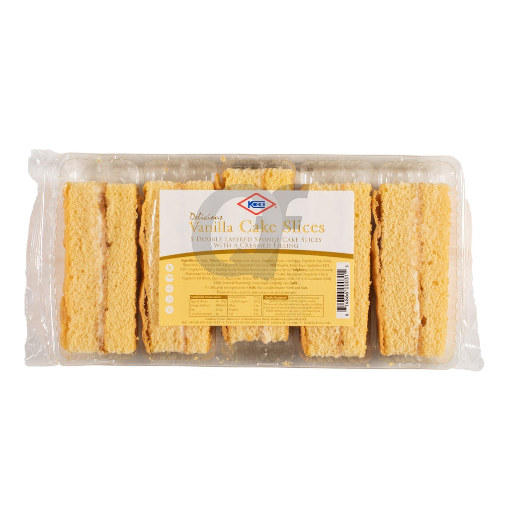KCB Vanilla Cake Slices 5 Pieces
