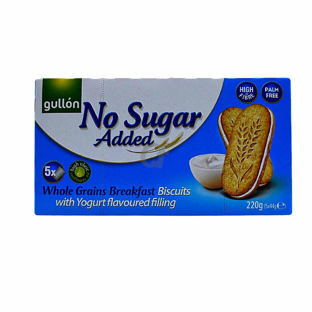 Gullon No Sugar Added Whole Grains Breakfast Biscuits with Yogurt flavoured filling