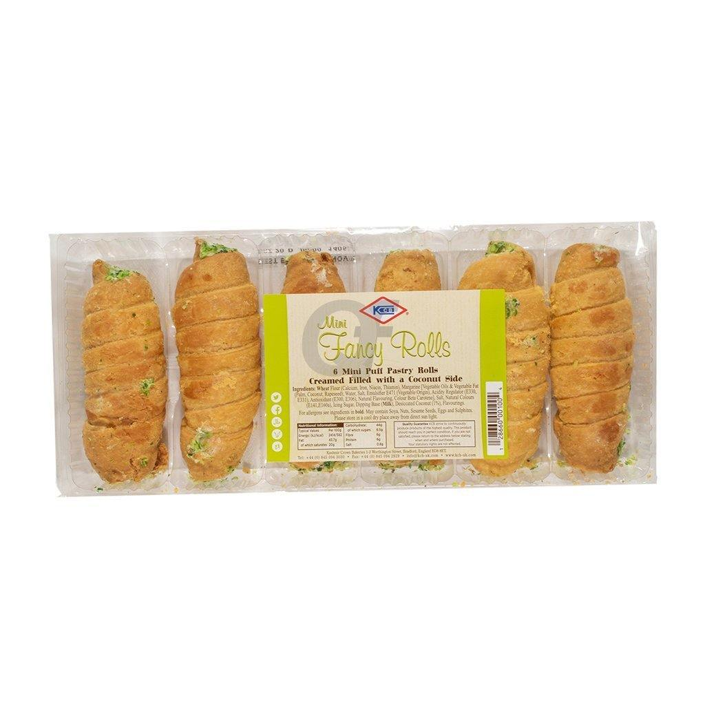 KCB Fancy Roll coconut Puff Pastry with Coconut 5 Pieces