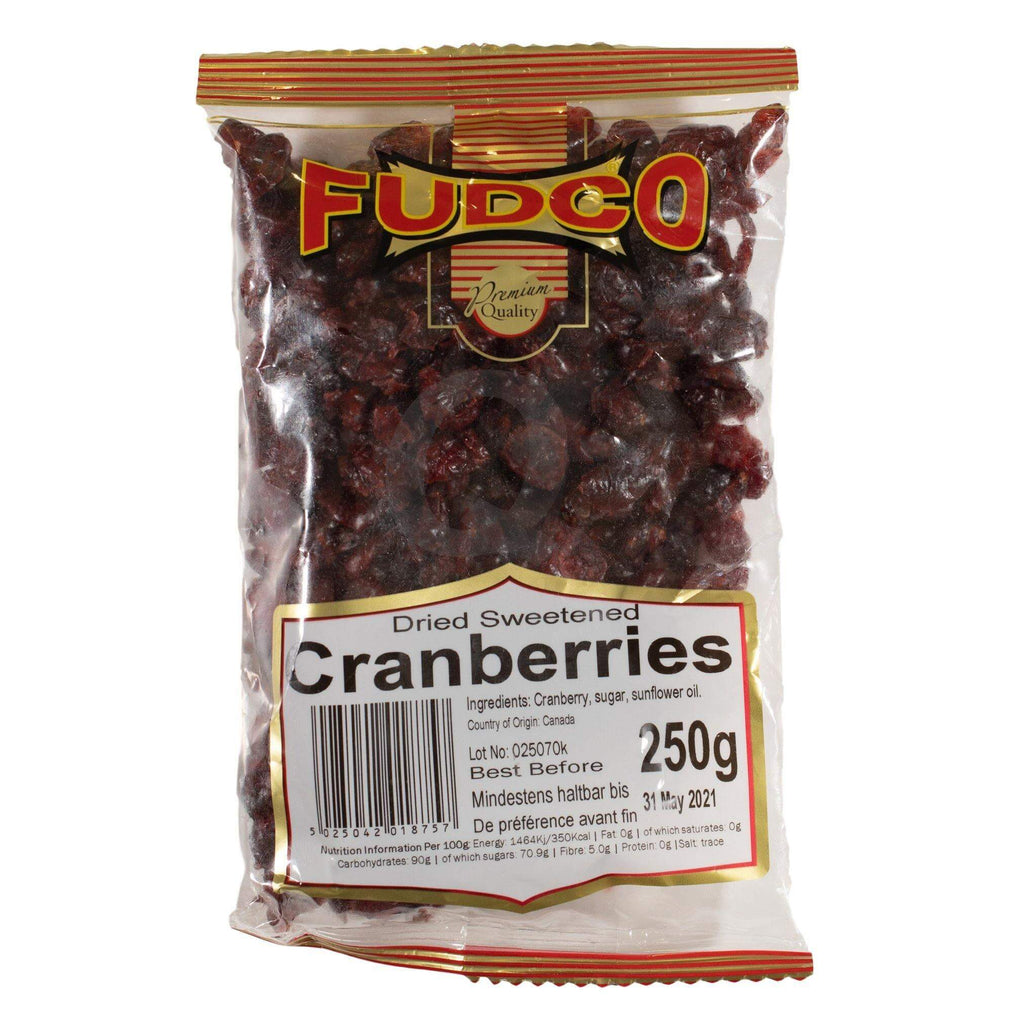 Fudco Dried Sweetened Cranberries 250g