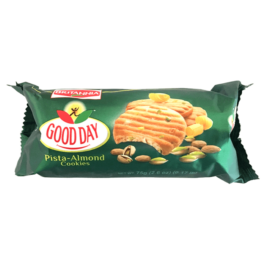 Britannia Gooday Pista-Almond Biscuits 75g