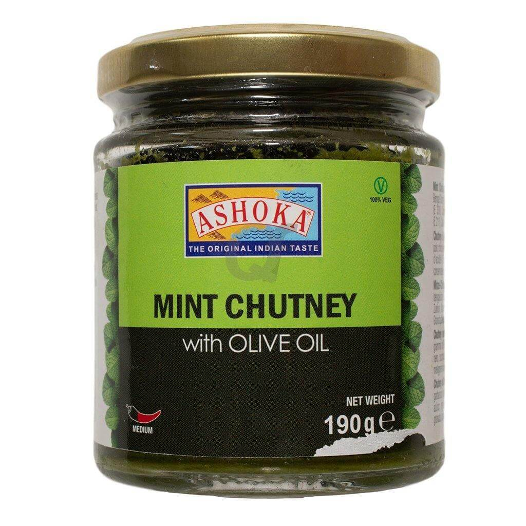 Ashoka Mint Chutney with Olive Oil 190g