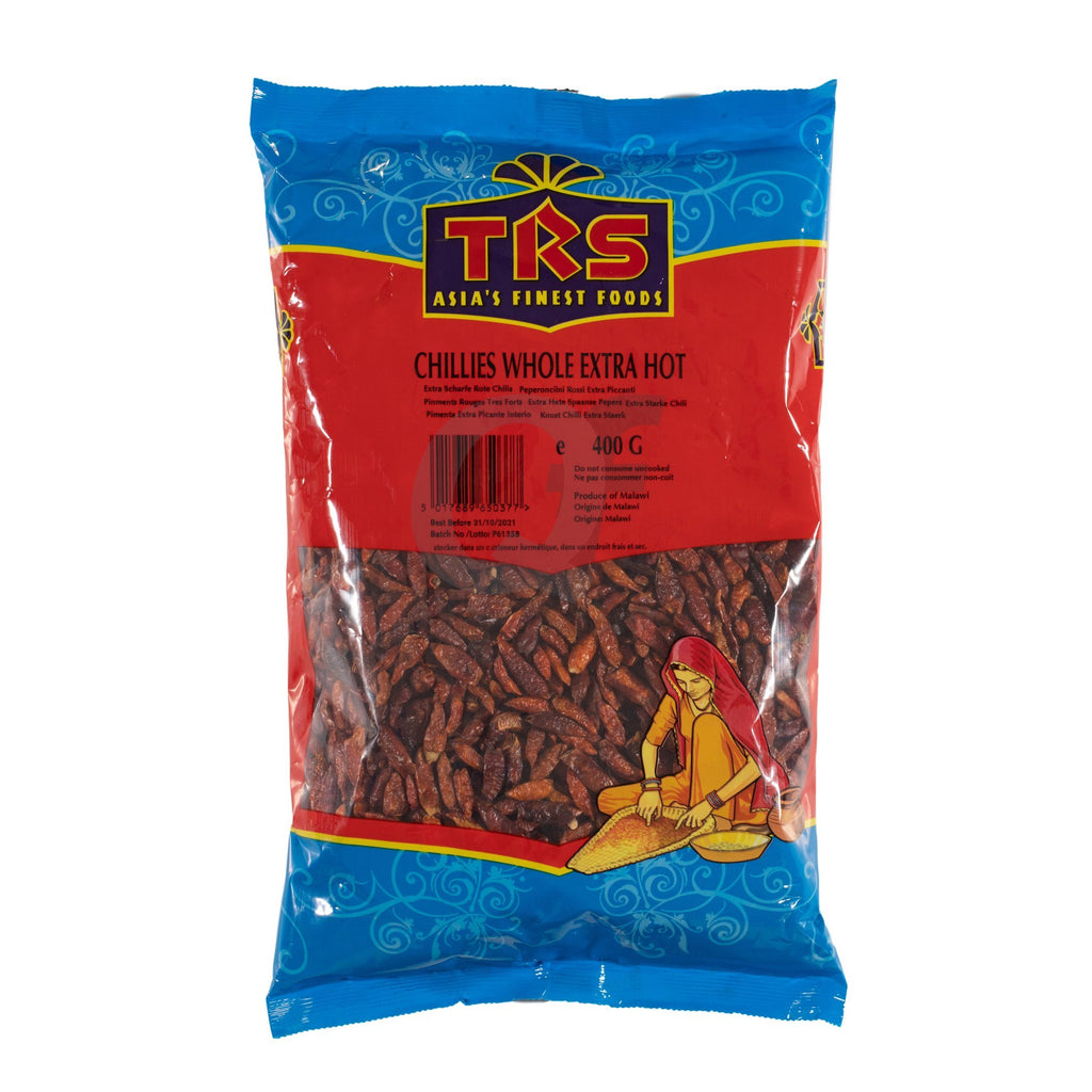 TRS ex hot red chillies 400g