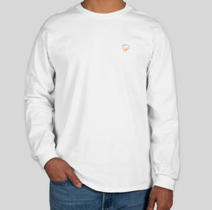 Yaheard Signature Long Sleeve T-Shirt - Small Fist - White