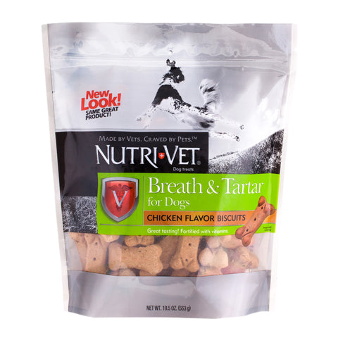 Nutri-Vet Breath & Tartar Mint & Parsley Biscuits for Dogs