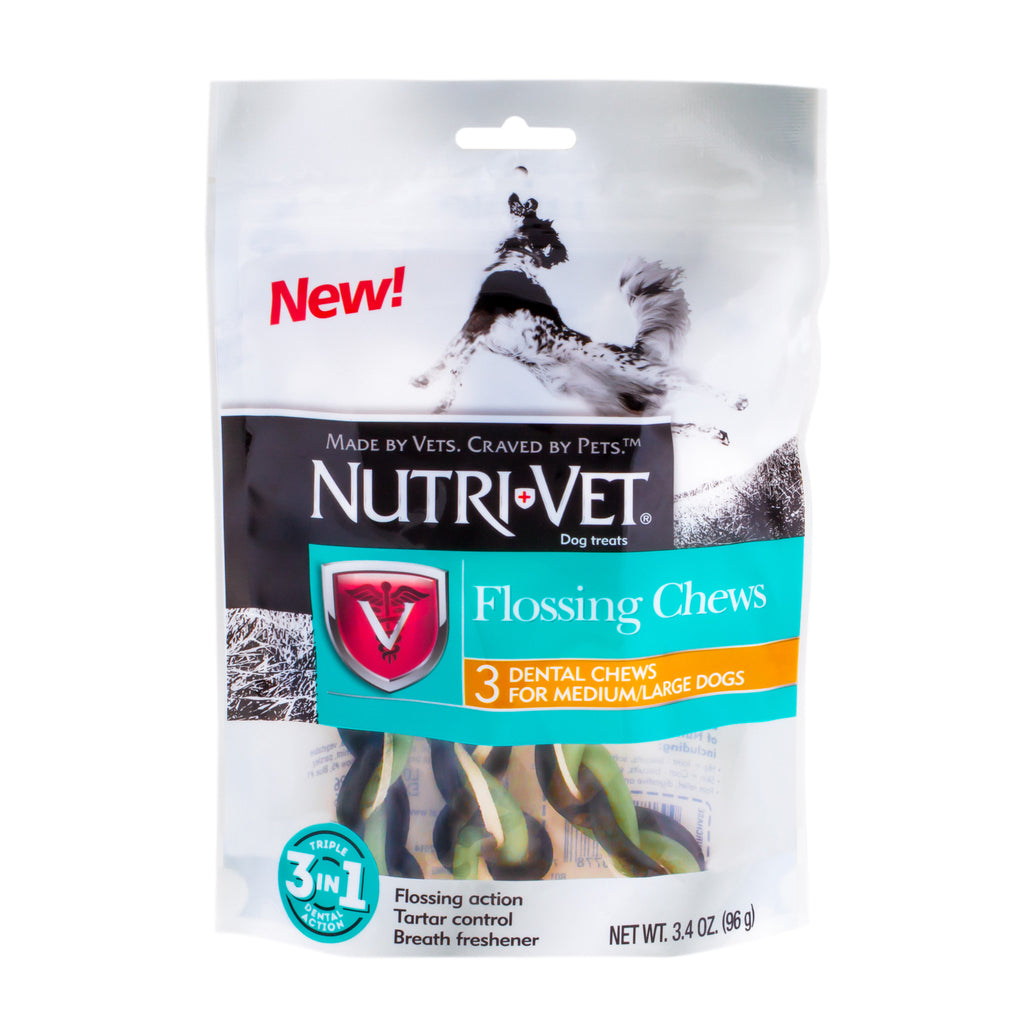 Nutri-Vet Flossing Chews for Medium/Large Dogs - 3.4 oz