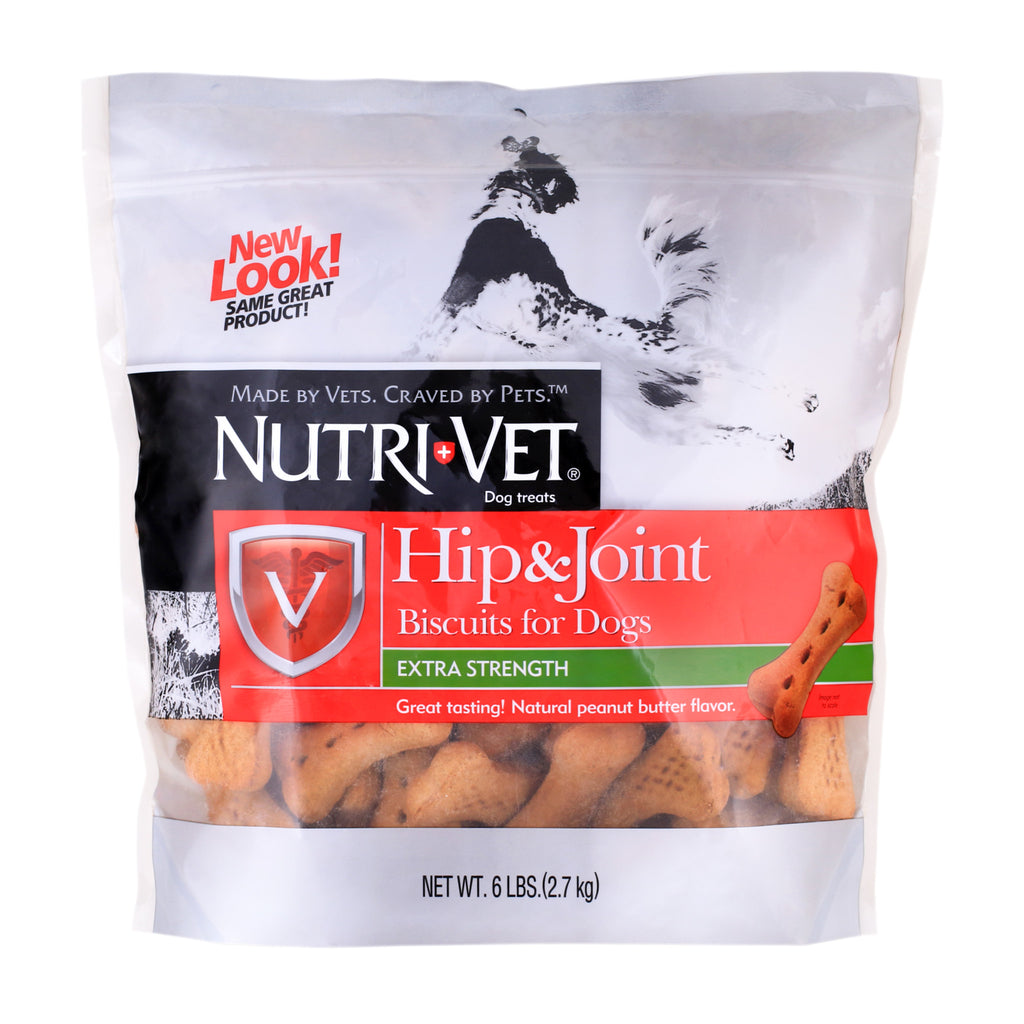 Hip & Joint Level 1 Peanut Butter Biscuits for Large Dogs - 500mg GS - 6 lbs