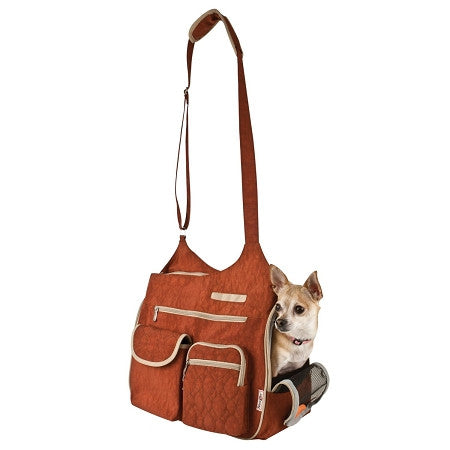 Kelsey Cross Body PetCarrier - Rust