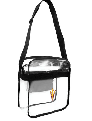 Arizona State University Clear Bag Cross Body Tote