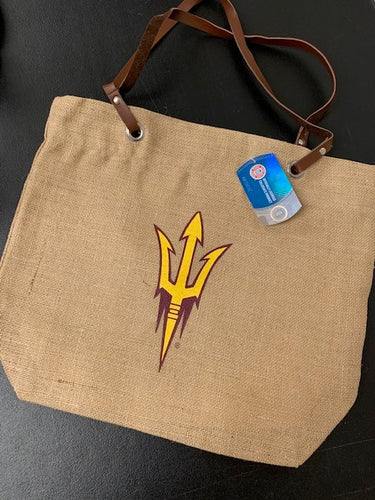 Arizona State University Burlap Tote brn