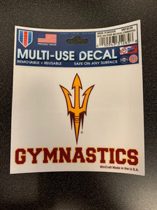 Arizona State University Sport MU Decal Gymnastics