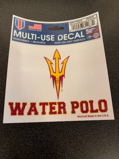Arizona State University Sport Decal Water Polo