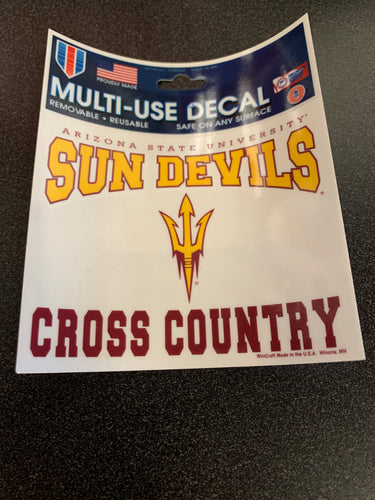 Arizona State University Cross Country 3x4 Decal