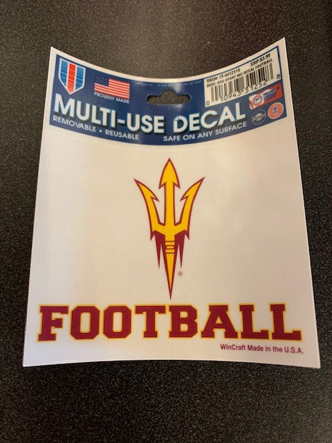 Arizona State University Sport Decal Football