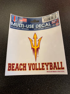 Arizona State University Sport Decal Beach Volleyball