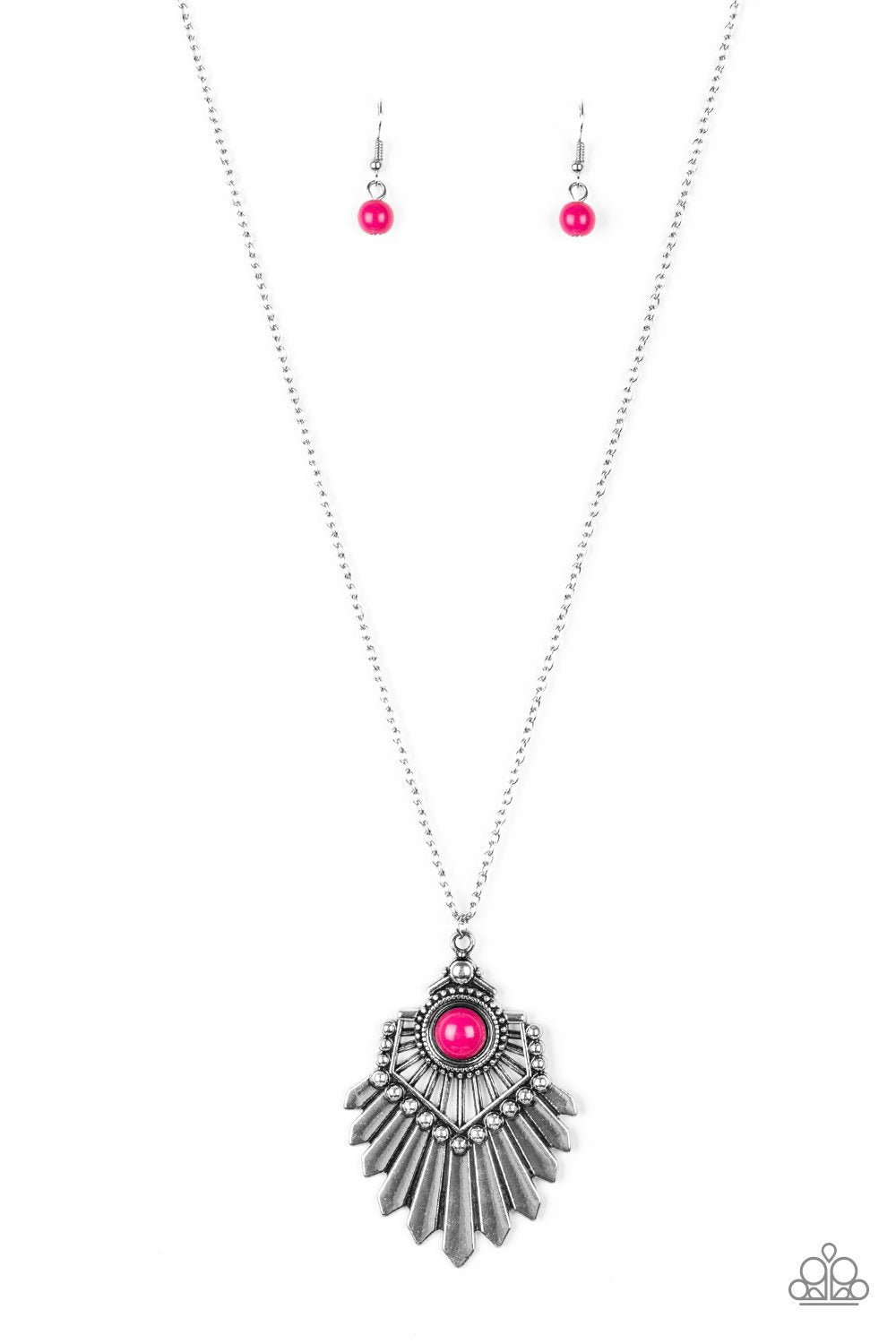 Inde-Pendant Idol Pink Necklace